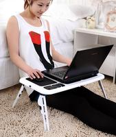 New Portable Adjustable Laptop Notebook Pc Desk Table With Built In Cooling Fan Folding Laptop Cooler