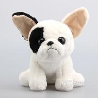 Cartoon Simulation French Bulldog Doll Squatting Dog Plush Toy Soft Stuffed Animals 9 23 CM Children