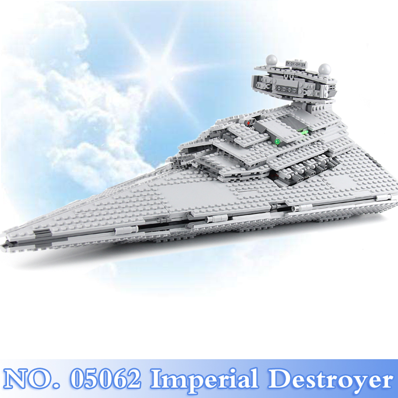 Lepin 05062 Star War 1359Pcs Imperial Destroyer Figures Building Blocks Bricks Set Toy For Children Model Kits Compatible 75055 a toy a dream lepin 15008 2462pcs city street creator green grocer model building kits blocks bricks compatible 10185