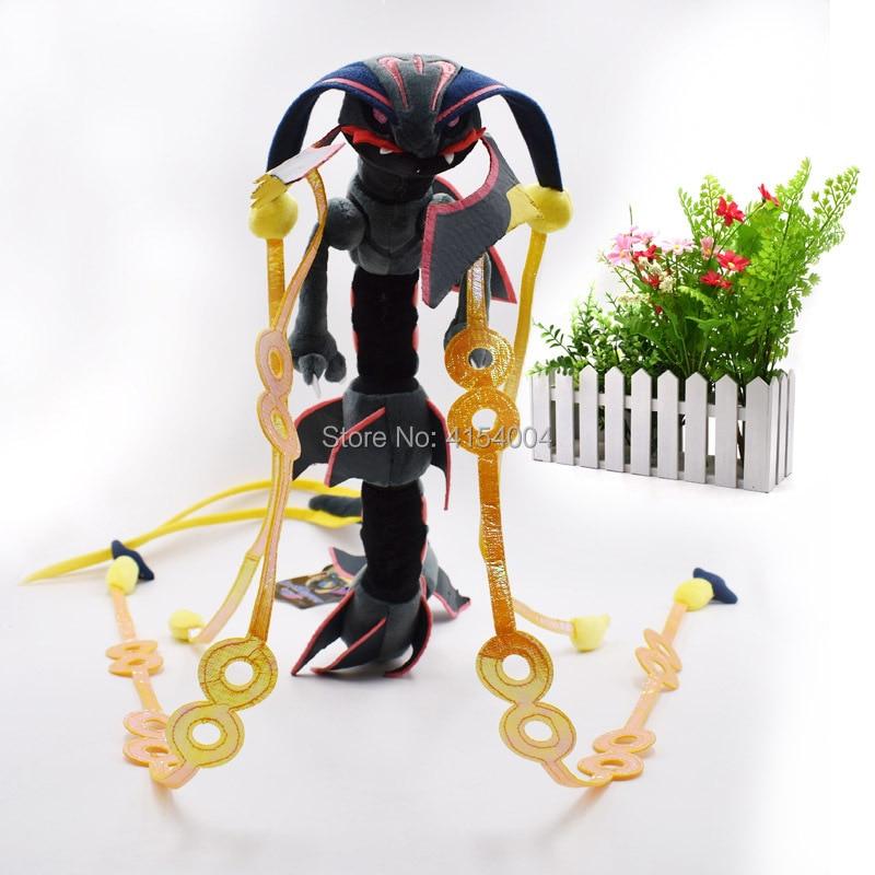 10 Pcs/lot Anime Mega Rayquaza Black Animal Plush Peluche Doll With Skeleton Soft Stuffed Hot Toy Great Gift For Children 83 Cm