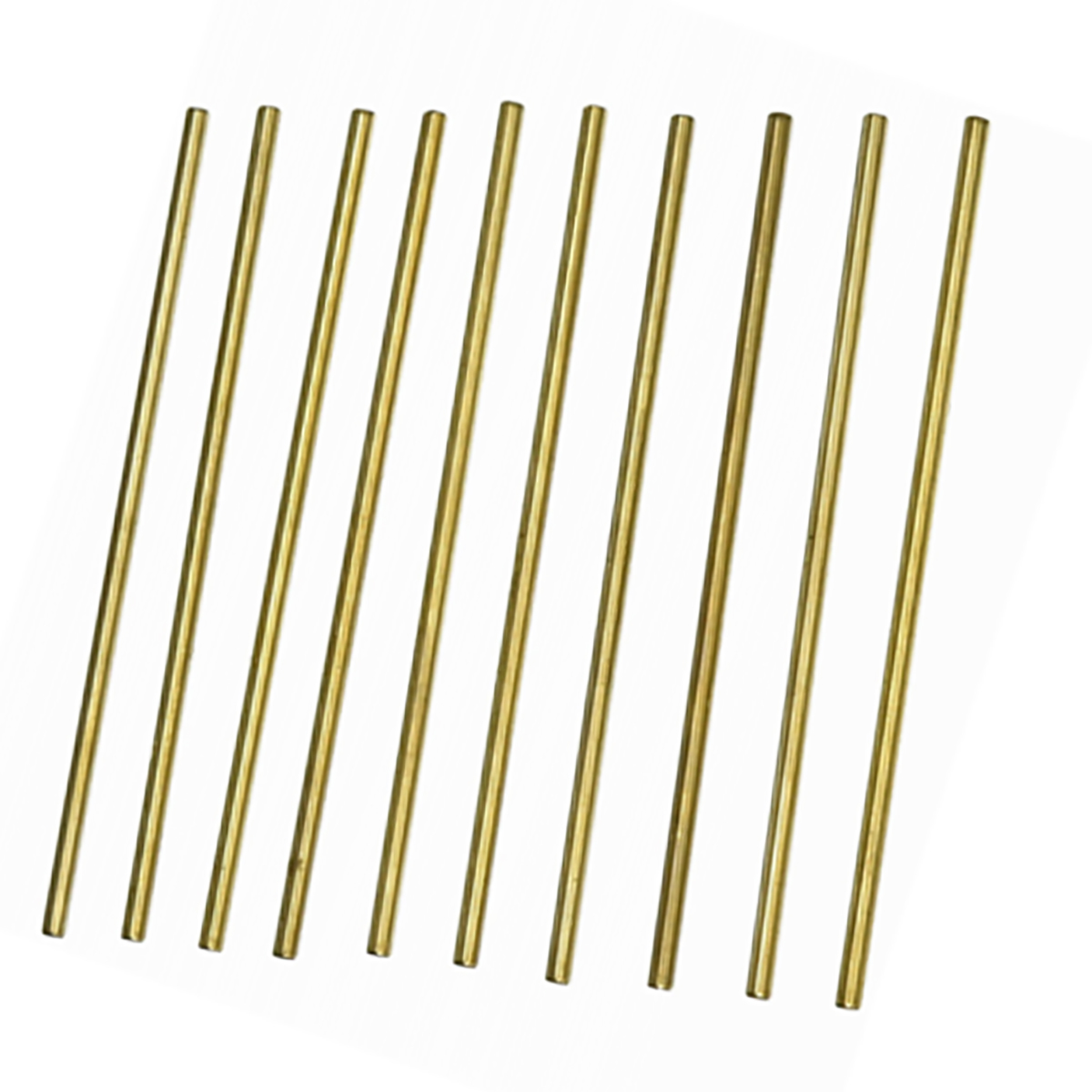 10pcs 100mm Length Brass Round Rod Bar 3mm Diameter Durable For RC Model Airplane