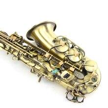 Настраиваемый Логотип Саксофон альт MG-82 альт Eb Tune Sax E плоский латунный античный медный имитационный саксофон инструменты с мундштуком чехол