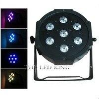 4 teile/los Gute Qualität LED Par Quad 7x12w Waschen DMX Par Licht American DJ Par RGBW 4in1 DMX LED Flach Par Licht LED Lampe-in Bühnen-Lichteffekt aus Licht & Beleuchtung bei