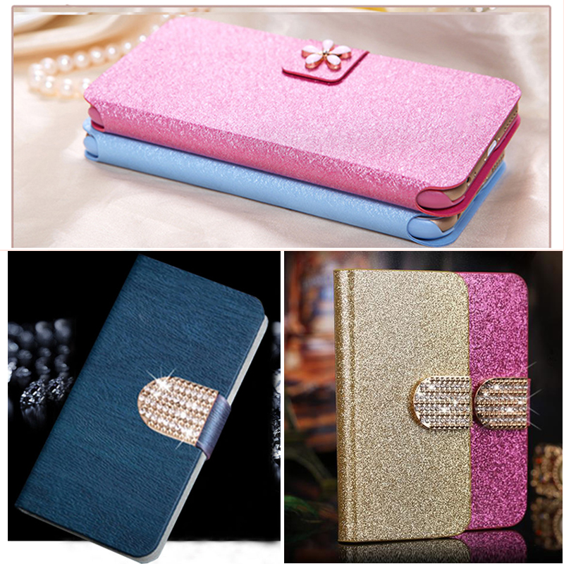 (3 Styles) For Alcatel Idol 2 Mini S Luxury PU Leather Case for Alcatel One Touch Idol 2 Mini S 6036 6036Y Phone Cover Protector