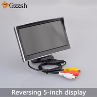 5 Inch Car Monitor TFT LCD Screen Digital Color Rear View Monitor Support VCD DVD GPS Camera with 2 Video Inputs NTSC PAL