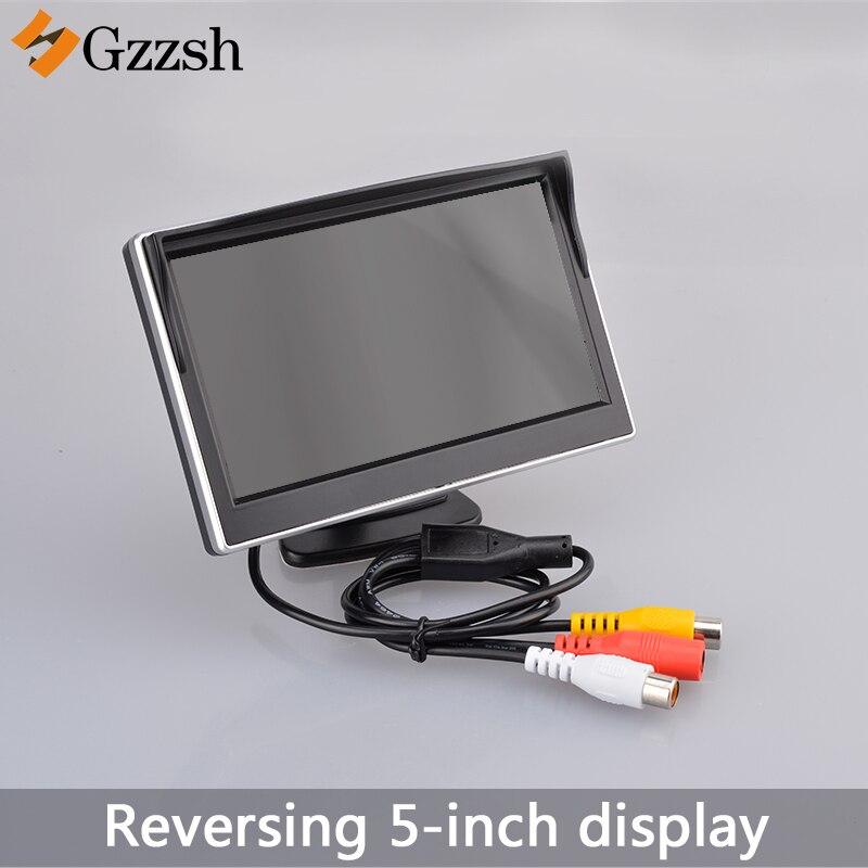 Moniteur de voiture de 5 pouces TFT LCD écran numérique couleur vue arrière moniteur prise en charge VCD DVD GPS caméra avec 2 entrées vidéo NTSC PAL