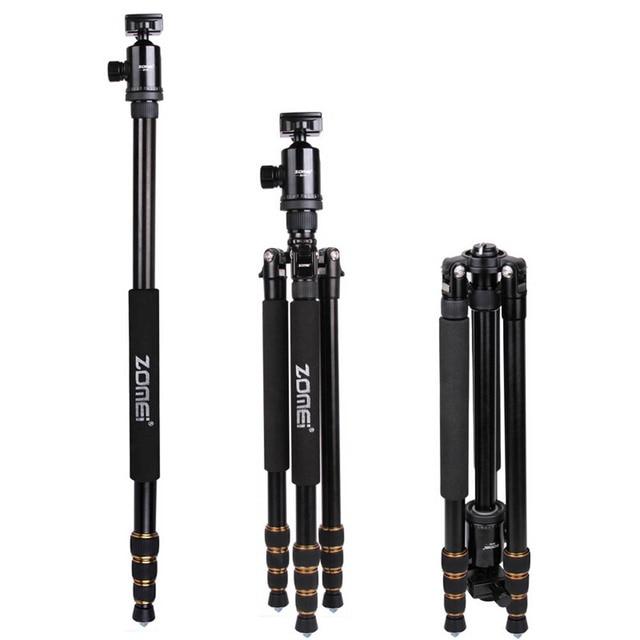 ZOMEI Z688 professionnel Portable caméra trépied support monopode pour appareil photo numérique DSLR avec rotule