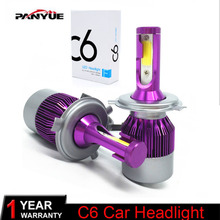 PANYUE 2PCS H4 LED H7 H11 9006 HB4 H1 H3 HB3 COB LED Auto Car Headlight