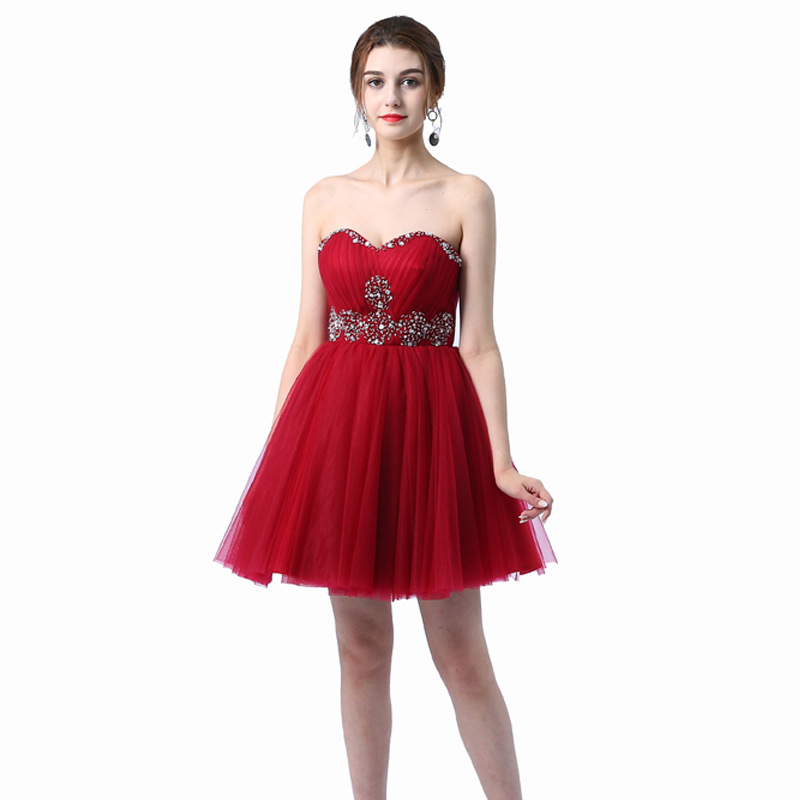Beauty Emily Wine Red   Cocktail     Dress   Summer V-Neck Short Sleeve Bling Sequined Women Party Fashion Designer Short   Cocktail   Gowns