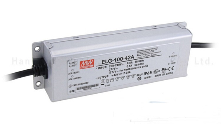 Original MEAN WELL 100W Single Output IP67 Constant Current /Voltage LED Driver Switching Power Supply With PFC ELG-100 цена
