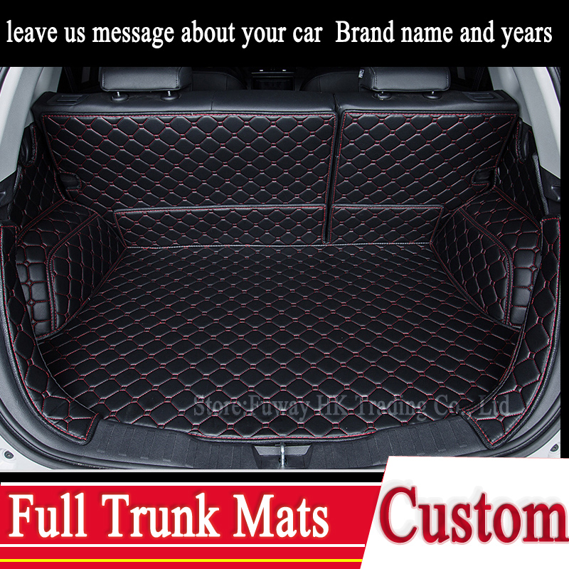 ₪Custom Trunk 3D Mats Leather For Land Rover Discovery 3/4