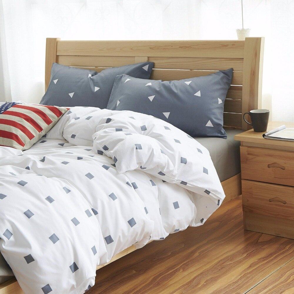 Cotton Small Ssquare Bedding Set Home Bed Sheets Duvet Boy