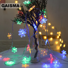5M 40 Bulbs Snow Garland Christmas LED String Lights Bedroom Fairy Lights Decoration For Holiday Party Wedding Home Lighting