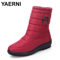 YAERNI Snow Boots 2017 Brand Women Winter Boots Mother Shoes Antiskid Waterproof Flexible Women Fashion Casual