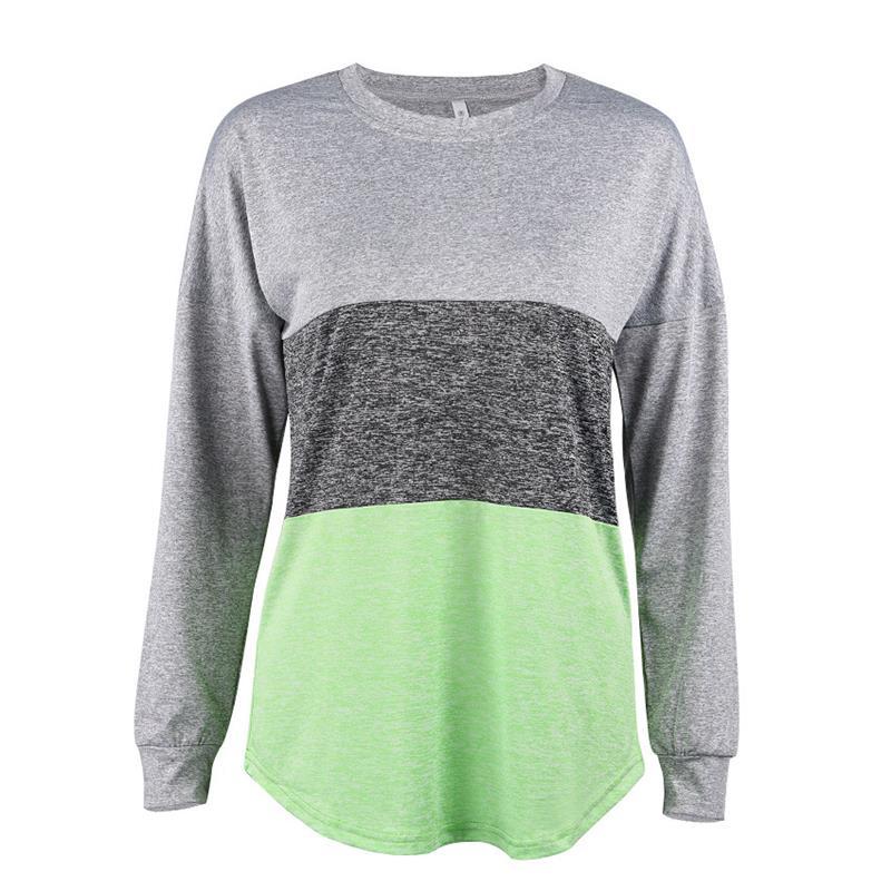 Casual Femmes T-Shirt Tunique Tops T-shirts À Manches Longues Automne Hiver Vêtements de Travail Blouse Tee Shirts WS3213Z