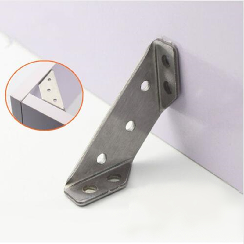 4pcs Multifunctional Stainless Steel Angle Code Right Angle Fixed Bracket Furniture Wood Board Angle Hardware Accessories