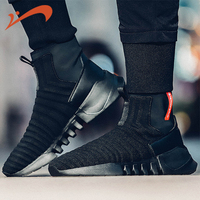 GRN Men's Skateboarding Shoes New One legged Socks Sleek Simple High top Casual Sports Shoes Men Shoes