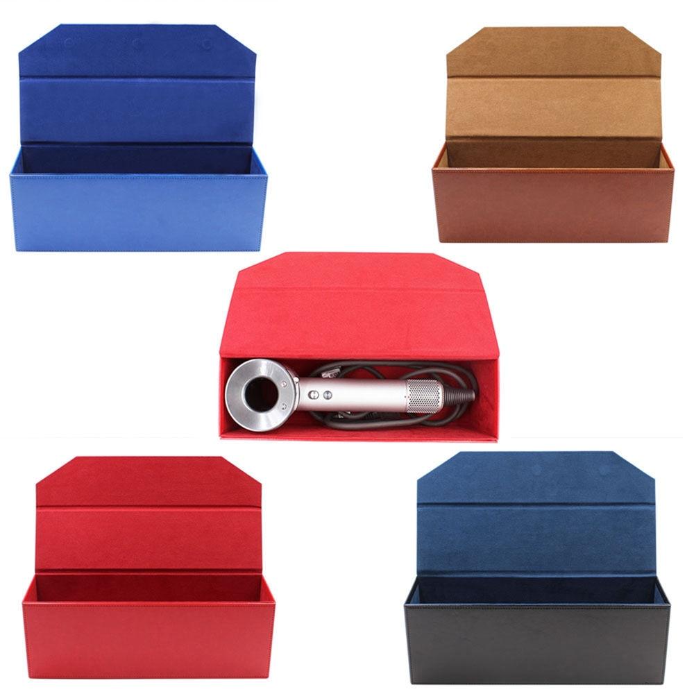 Professional Hair Dryer Pu Leather Storage Case Bag Box