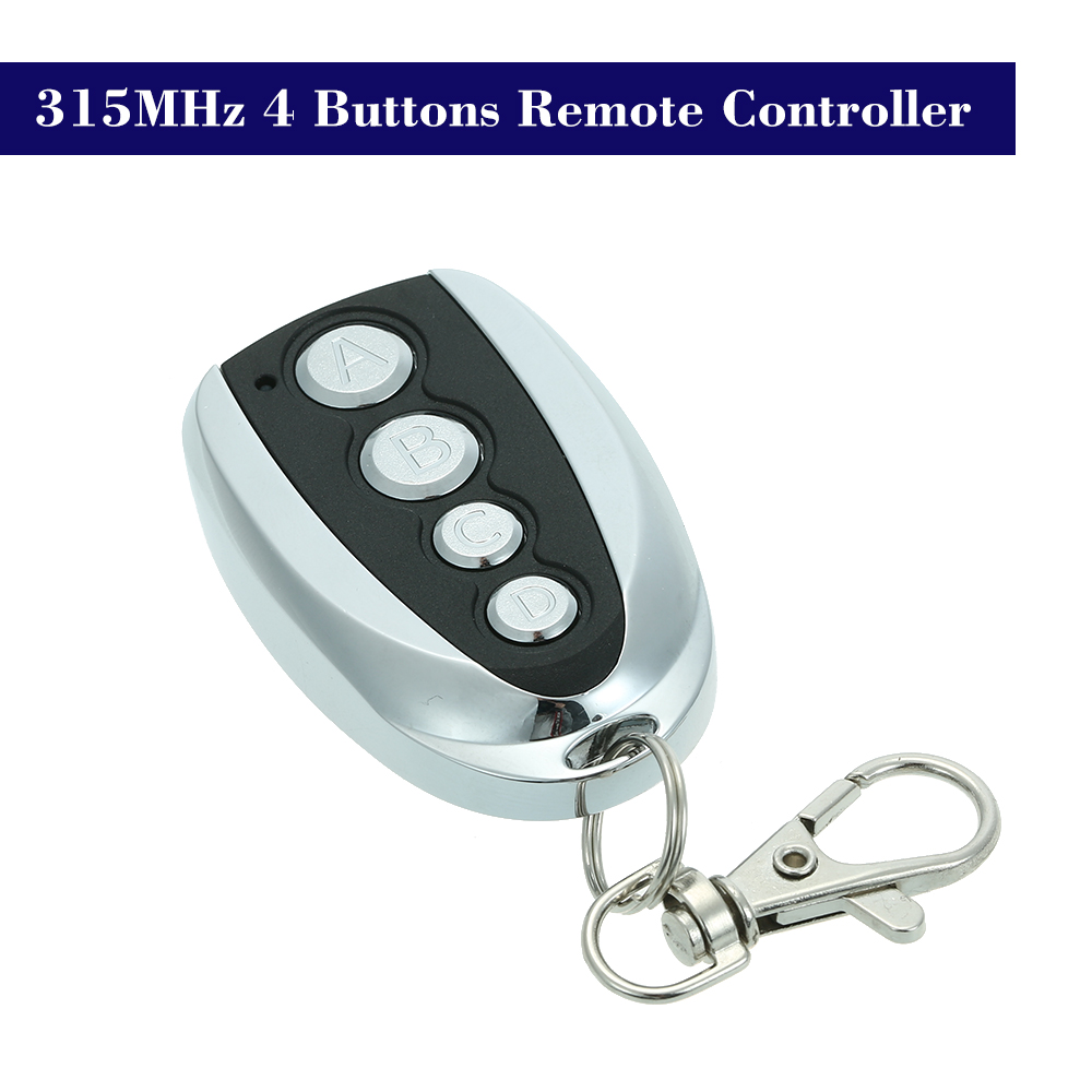 Access Control 315mhz Electric Garage Door Remote Control Key Fob 4 Buttons Touch Switch Copying Transmitter Cloning Duplicator Garage Opener Attractive Appearance