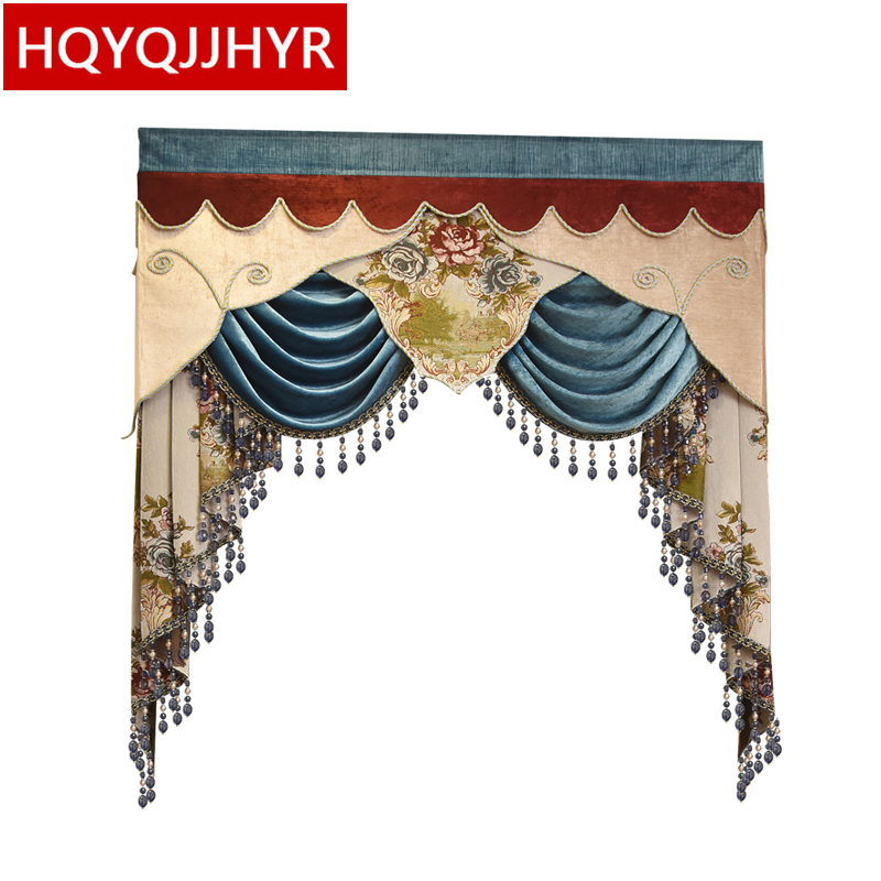 22 style European Valance for living room bedroom windows (Valance Dedicated link Not including Cloth curtain and tulle)