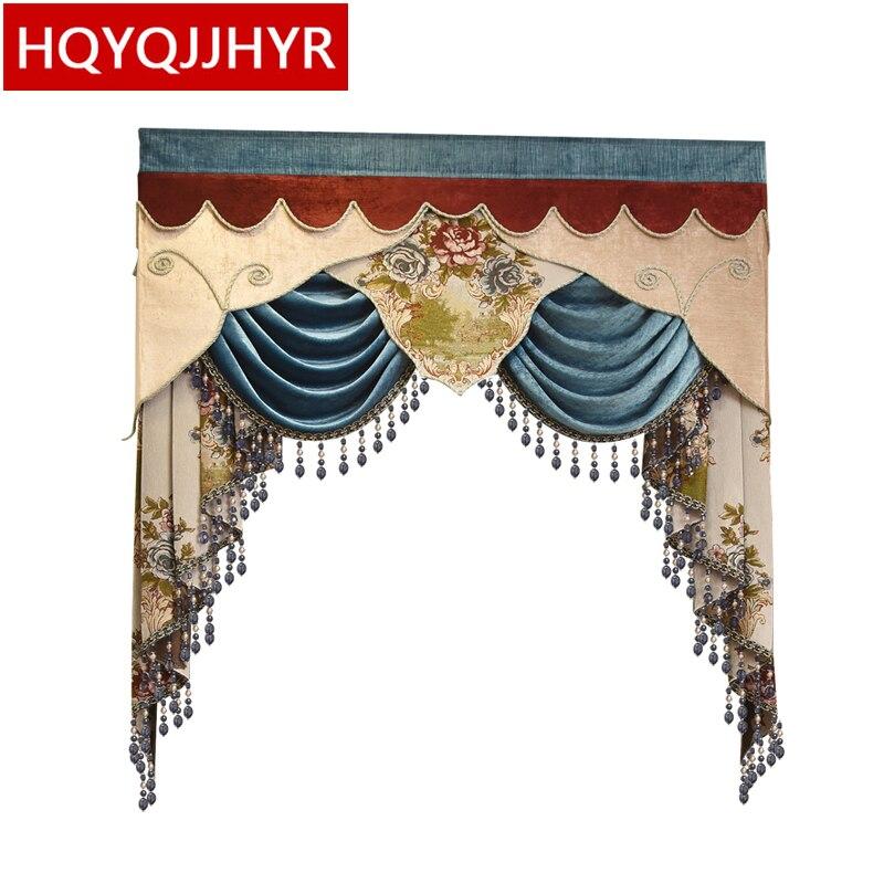 22 ventanas de dormitorio de estilo europeo para sala de estar (enlace dedicado de Valance sin incluir cortina de tela y tul)-in Cortinas from Hogar y Mascotas    1