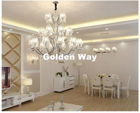 Modern European Candle K9 Clear Crystal Chandeliers Ceiling Living Room Home Decor E14 LED AC Wholesale Chandelier Free Shipping