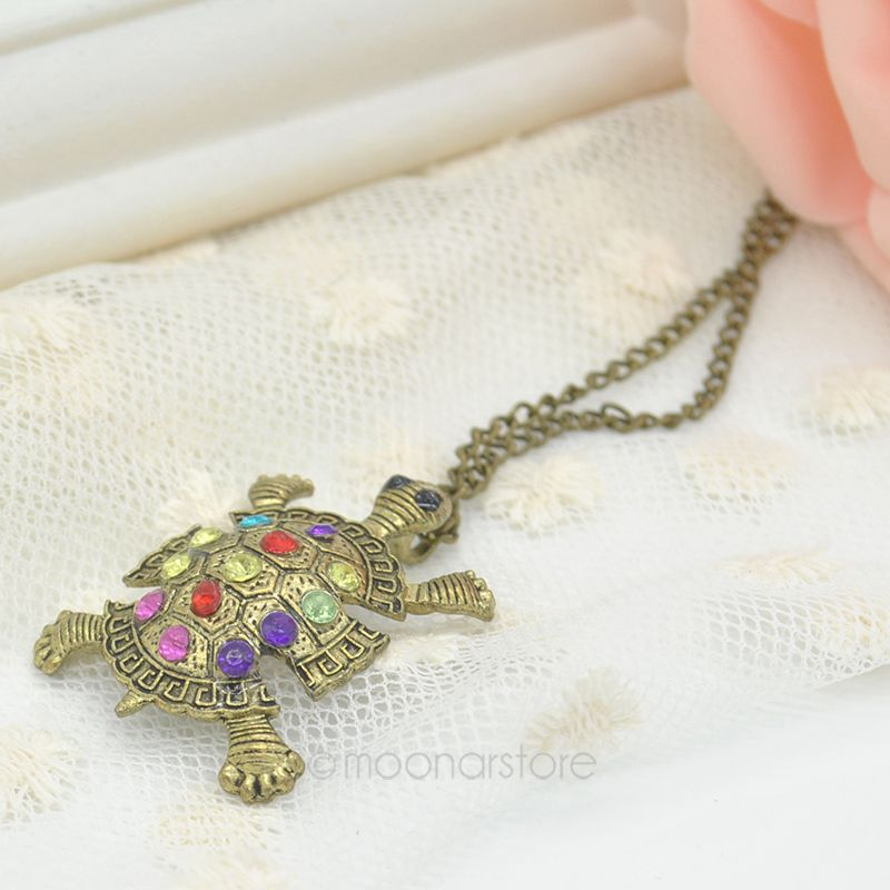 Jewelry & Watches Fashion Jewelry New Women Crystal Tortoise Sea Turtle Pendant Necklace Sweater Chain Jewelry