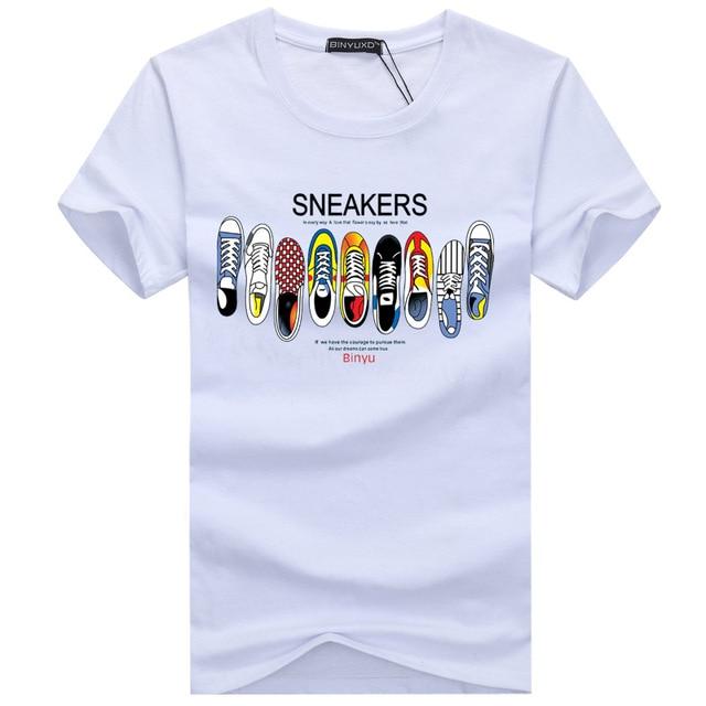 18f2dc2b3 2018 Summer Men s T-Shirts Cotton Plus Size S-5XL Casual O-Neck Tee Shirt  Homme Short Sleeve Men T Shirts Male Printed TShirts
