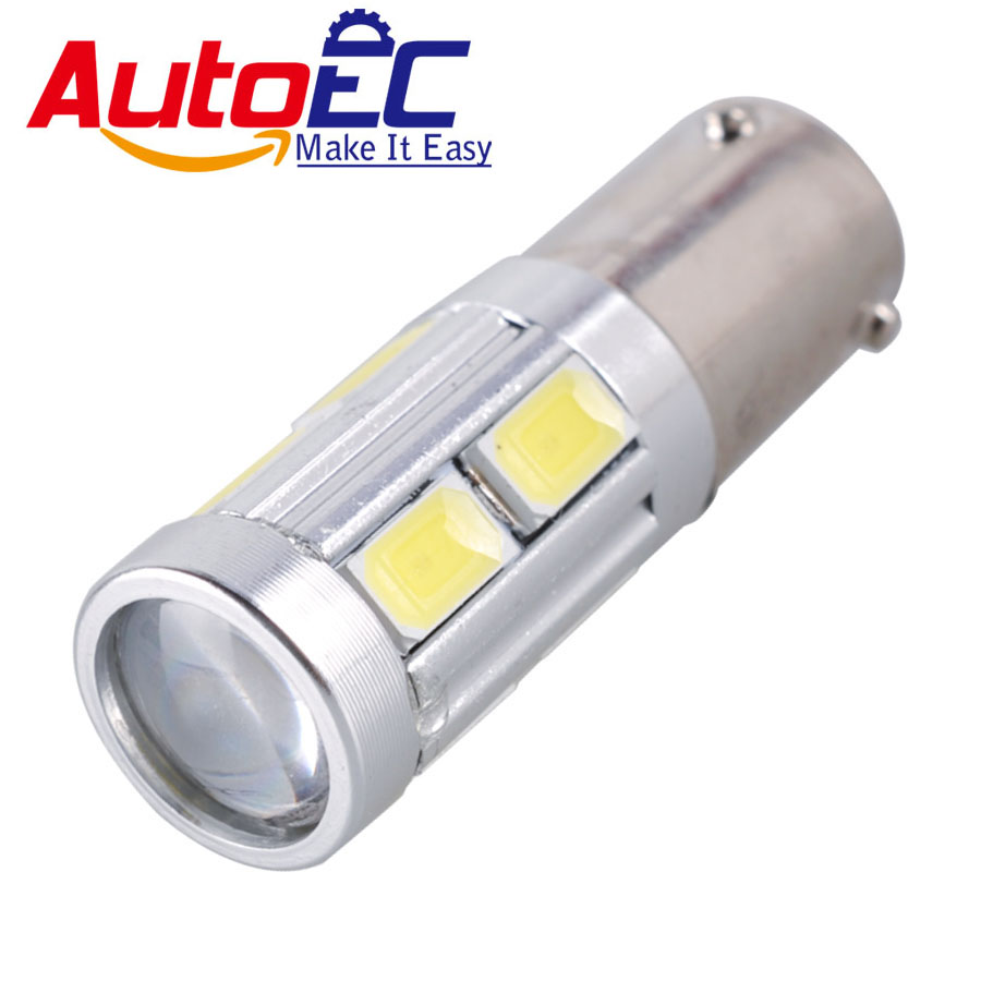 2Pcs <font><b>BAY9S</b></font> <font><b>H21W</b></font> 5630 10SMD <font><b>LED</b></font> Auto Backup Reverse Light Turn Corner Bulb Side Lamp White 12V DC #LG16 image