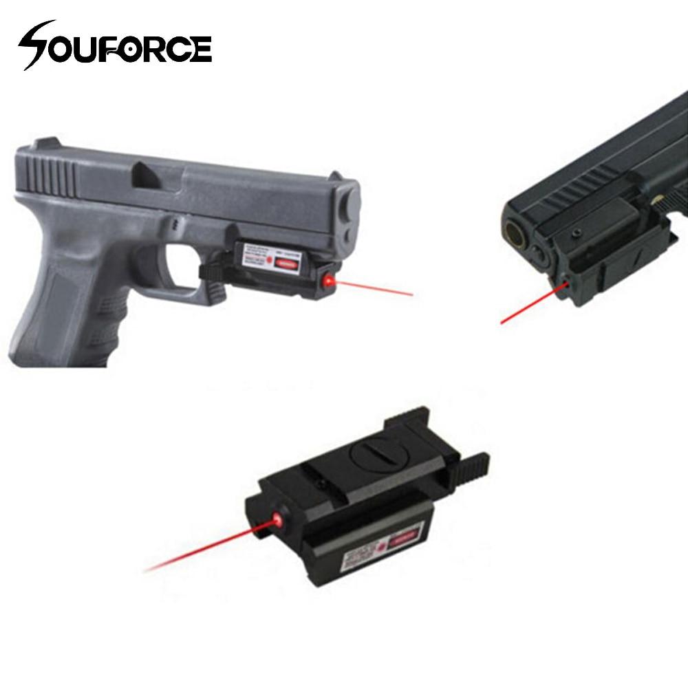 Висока якість Тактичний червоний лазерний приціл з прицілом + 2 ключа для G17 19 23 22 9 мм 22LR