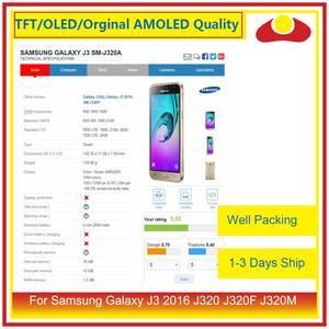 Image 4 - 50 шт./лот DHL для Samsung Galaxy J3 2016 J320F J320M J320 ЖК дисплей с сенсорным экраном дигитайзер панель J320 сборка полная