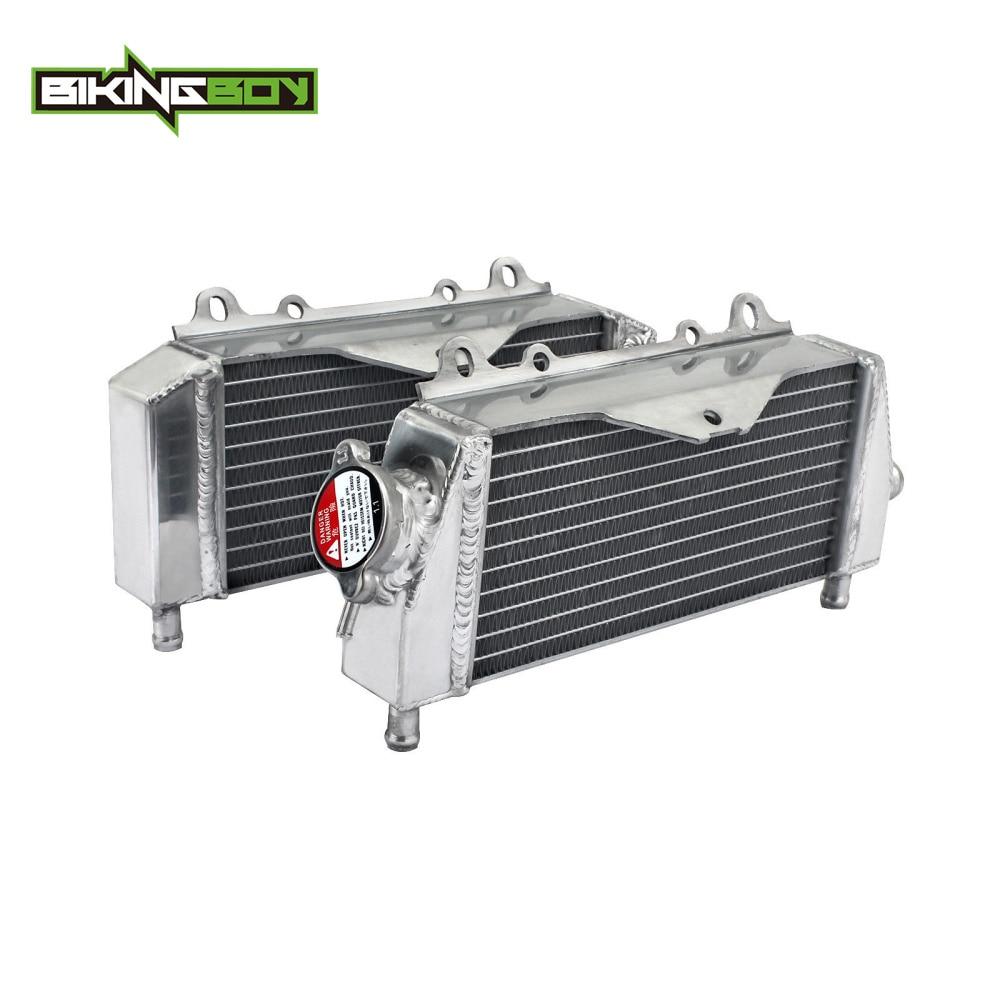 BIKINGBOY MX Radiator Engine Cooling For Kawasaki KX 125 250 03-08 07 KDX 200 97-06 98KDX 220 02 03 04 05 KX250 19 Water Cooler