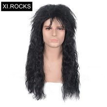 цена на 3611 xi.rock brazilian kinky curly Heat Resistant wig medium length Rockabilly Fluffy wigs synthetic hair