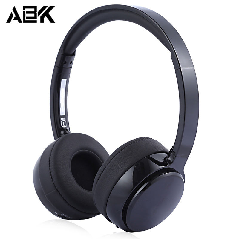 ALBK 303B Wireless Bluetooth 4.0 Music Headband Headphones Volume Control Hifi Super Bass Hand Free Headset Mic for iPhone PC