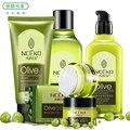 NCEKO Уход За Лицом, оливковое Освежающий Моющее Средство + Сглаживание Тонера + Увлажняющий Emulison + Увлажняющий Крем, Отбеливания кожи