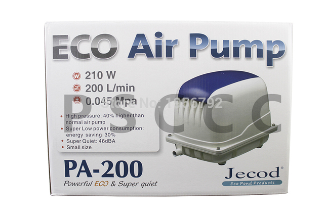 US $123 37 27% OFF|Jebao PA 200 Koi Fish Pond Eco Air Pump Low Noise  Aerator Jebao PA200 High power and low noise pump-in Air Pumps &  Accessories from