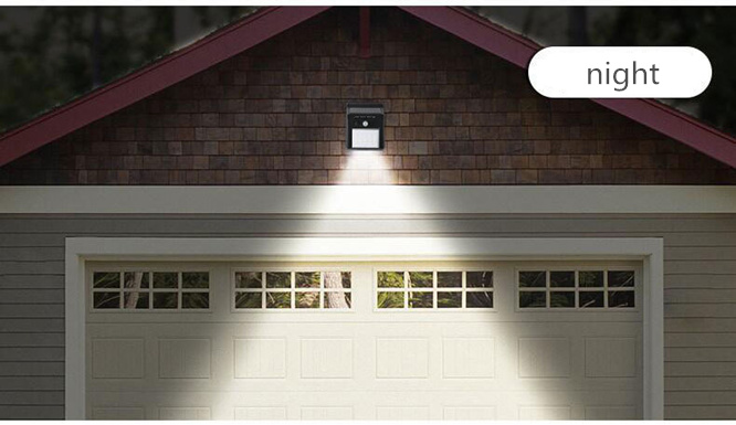sensor de movimento jardim luz decoração cerca