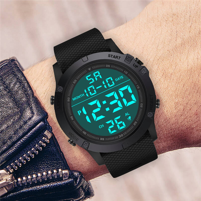 Watches HONHX Masculino Digital Outdoor Sports Waterpoof-Resistant Electronic Luxury