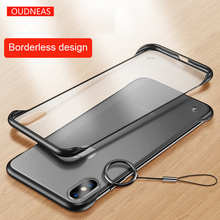 OUDNEAS Transparent for iPhone XS XR XsMax X Case Ultra-thin Matte Borderless design Coque 8 7 6s 6 Plus