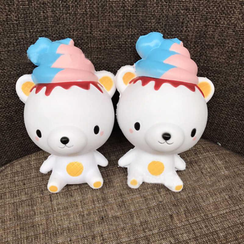 1 Cái Quyến Rũ Squishy Chậm Tăng Hộp Sữa Jumbo Panda thống Ice Cream Bánh Mì Mô Phỏng Mặt Dây Chuyền Pháp Khoai Tây Chiên Stretch Trẻ Em quà tặng