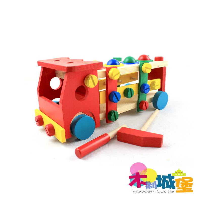 Car Wooden Building Blocks Infant Toys Exquisite Wood Toy Montessori Child Gift infant shining swing car mute flash belting leather music environmental quality children s toy car