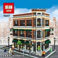 LEPIN 15017 4616Pcs Starbucks Bookstore Cafe Model Building Kits Blocks Bricks Toys Gift
