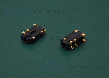 20pcs 2.5mm Audio Jack, 6 Fixed feet SMT, Headphone Jack Connector, Size 11*5.5*3mm, Widely used in tablets and phones