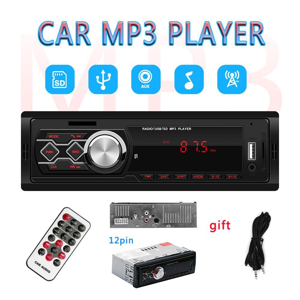 Radio usb no bluetooth car auto radio cassette recorder coche indash 1din Car Stereo FM receiver Audio SD mp3 Multimedia Player
