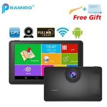 Pramiro 7 дюймов Android автомобильный видеорегистратор 512 М 8 г автомобильный навигатор FHD 1080 P тире камеры GPS навигации M18X WI-FI fm Карта Европы бесплатного обновления