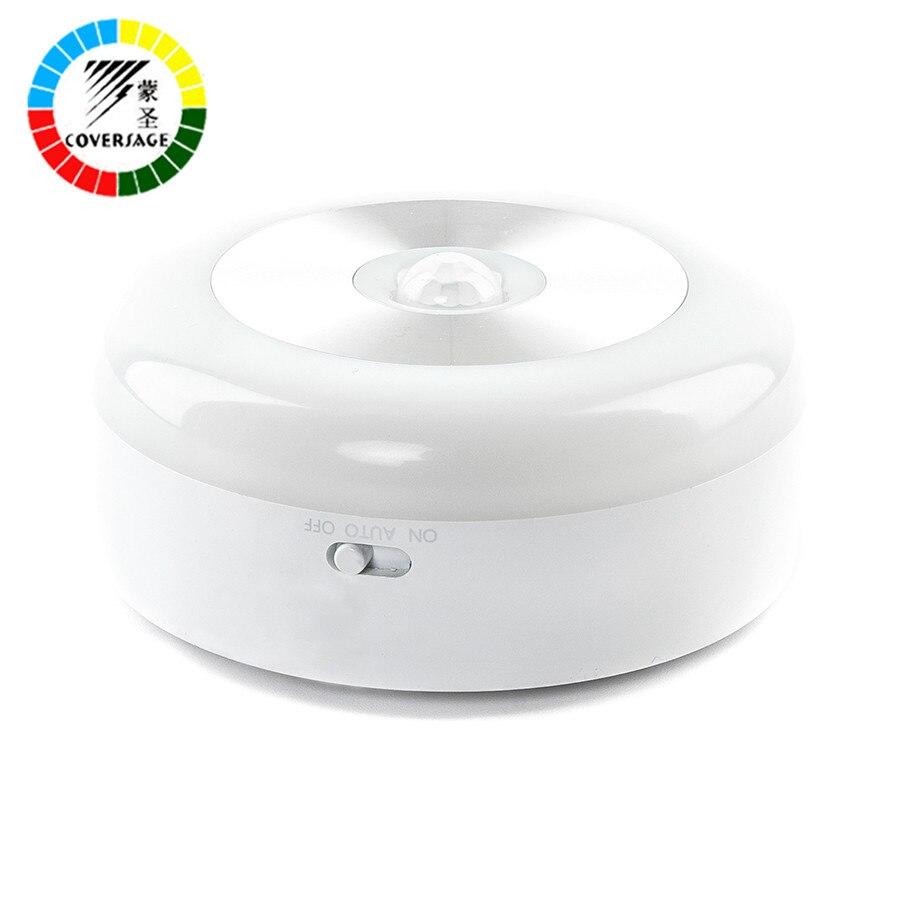 Coversage Samrt Night Light Sensor de movimiento activado batería dormir inicio WC aseo dormitorio baño cocina luces