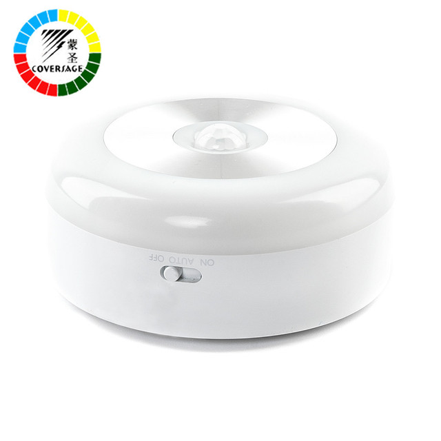 Coversage Smart Night Light Motion Sensor Activated Battery Powered Baby Sleeping