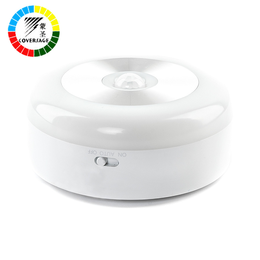Coversage Smart Night Light Motion Sensor Activated Battery Powered Baby Sleeping Home WC Bedroom Toilet Bathroom Kitchen Lights