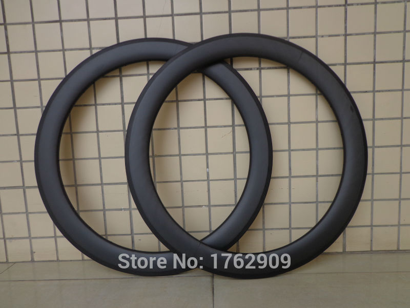 2Pcs New 700C 60mm tubular rim Road bicycle matte UD full carbon fibre bike wheels rims lightest 20.5 23mm width Free shipping цена