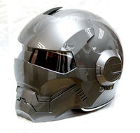 Free Shipping 2015 Hot MASEI Silver IRONMAN Iron Man Helmet Motorcycle Half Helmet Open Face Helmet
